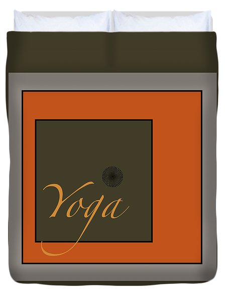 Yoga Duvet Cover by Kandy Hurley