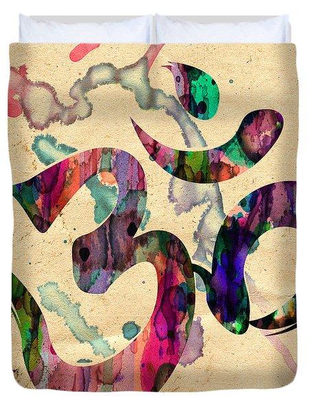 Yoga Ohm Symbol Duvet Cover