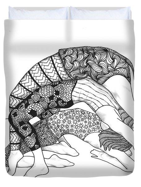 Yoga Sandwich Duvet Cover