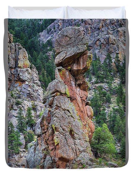 Yogi Bear Rock Formation Duvet Cover by James BO Insogna