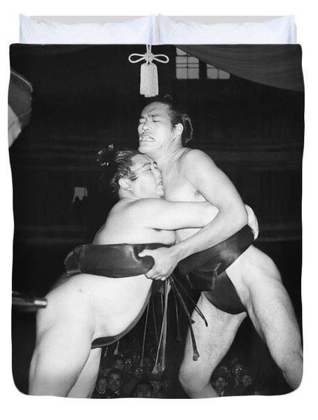 Yokozuna  Sumo Wrestler Duvet Cover