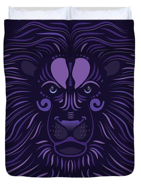 Yoni The Lion - Dark Duvet Cover