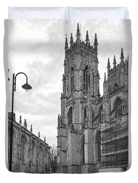 York Minster Duvet Cover by David  Hollingworth