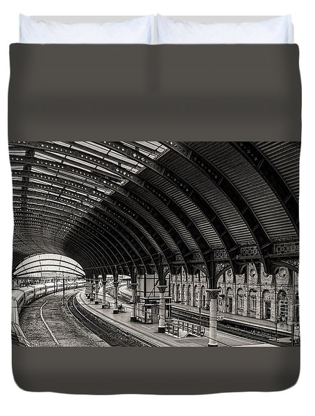 York Railway Station Duvet Cover by David  Hollingworth