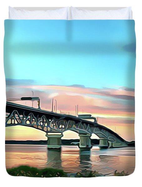 York River Bridge Duvet Cover