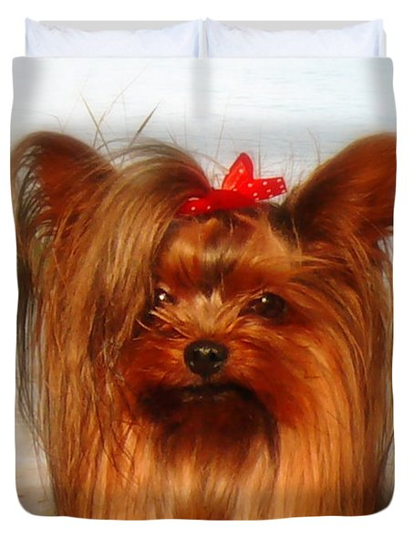 Yorkie Princess Duvet Cover