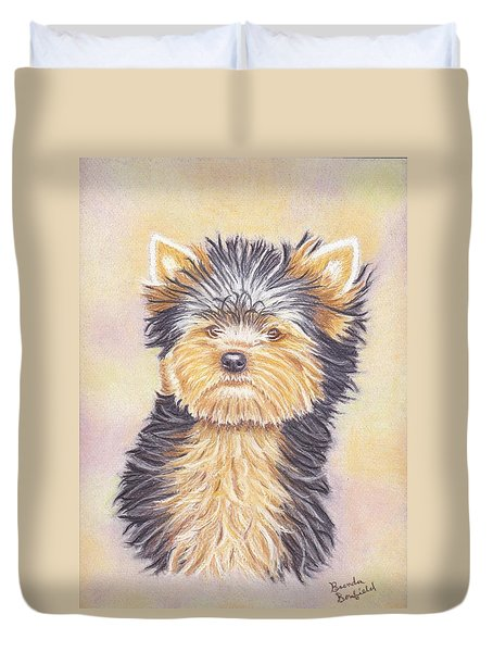 Yorkie Puppy Duvet Cover