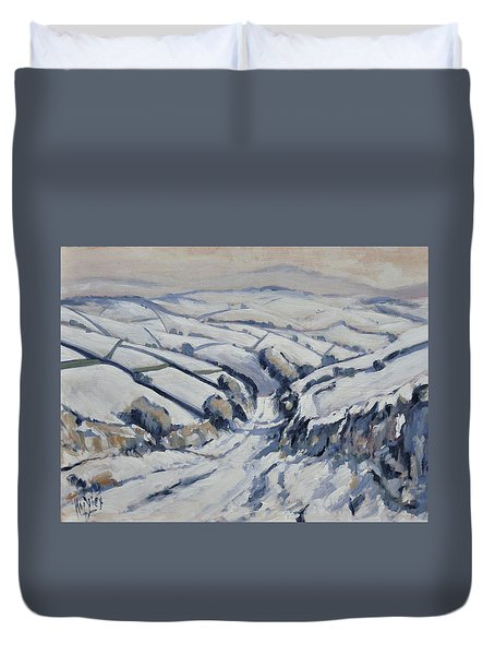 Yorkshire In The Snow Duvet Cover