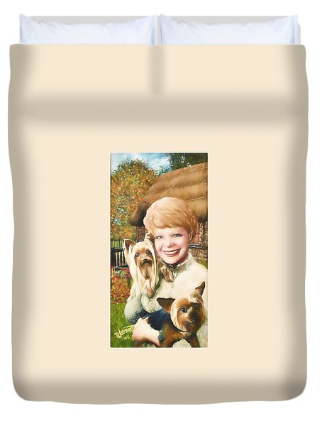 Yorkshire Lady Duvet Cover by Dave Luebbert