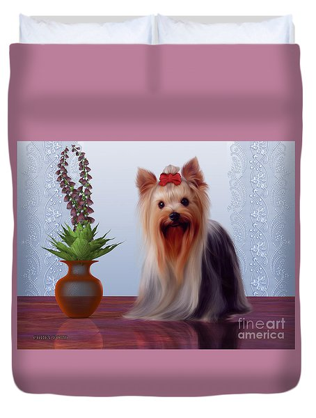 Yorkshire Terrier Duvet Cover by Corey Ford