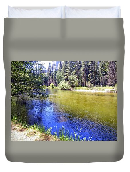 Yosemite River Duvet Cover