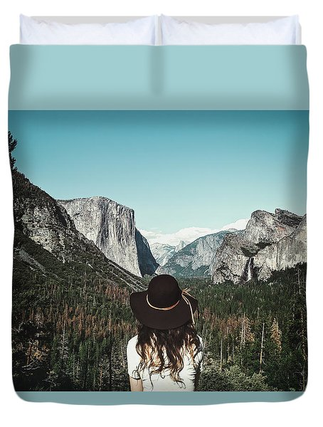 Yosemite Awe Duvet Cover by Marji Lang