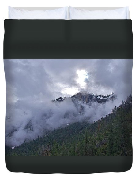 Duvet Cover featuring the photograph Yosemite Clouds Bbbbbbbbbbbb by Phyllis Spoor