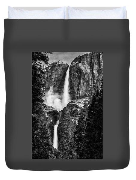 Yosemite Falls Bw Duvet Cover