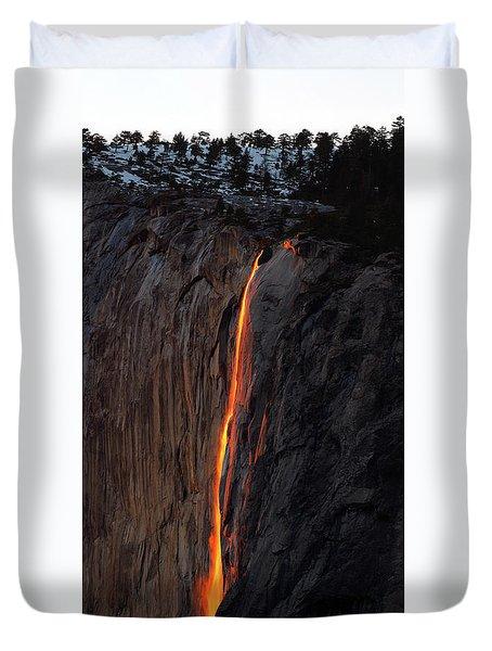 Yosemite Fire Falls - 2016 Duvet Cover