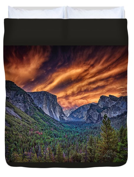 Yosemite Fire Duvet Cover by Rick Berk