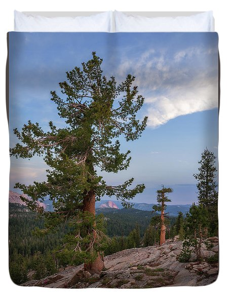 Half Dome From May Lake Duvet Cover