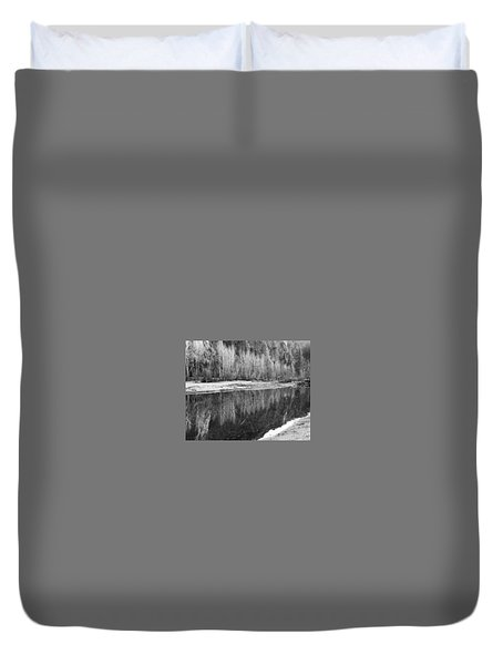Duvet Cover featuring the photograph Yosemite  by Lora Lee Chapman