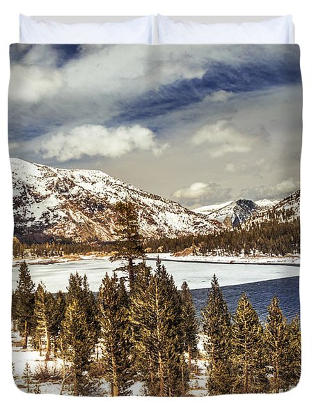 Yosemite Melts Into Spring Duvet Cover