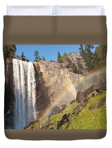 Yosemite Mist Trail Rainbow Duvet Cover