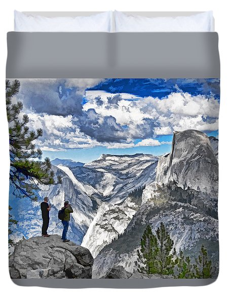 Yosemite Overlook Duvet Cover by Dennis Cox WorldViews