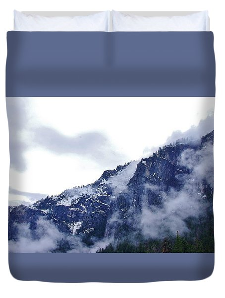 Duvet Cover featuring the photograph Yosemite by Phyllis Spoor