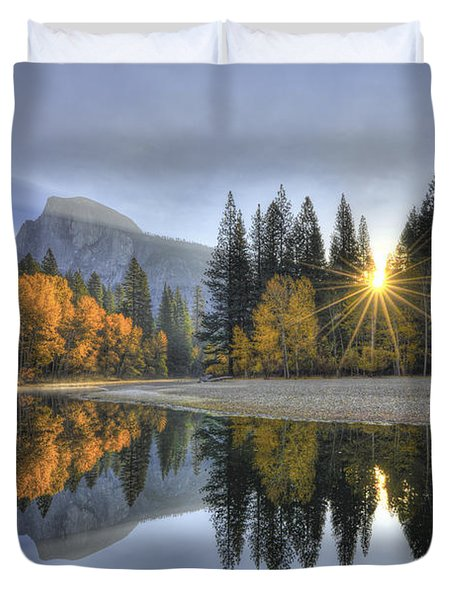 Yosemite Reflections Duvet Cover