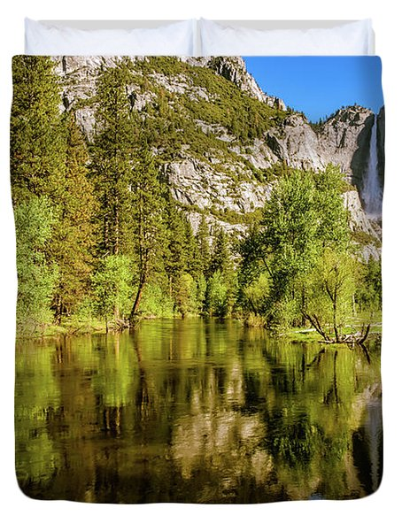 Yosemite Reflections On The Merced River Duvet Cover
