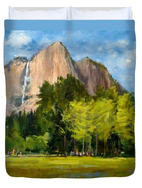 Yosemite - Ribbon Falls Duvet Cover