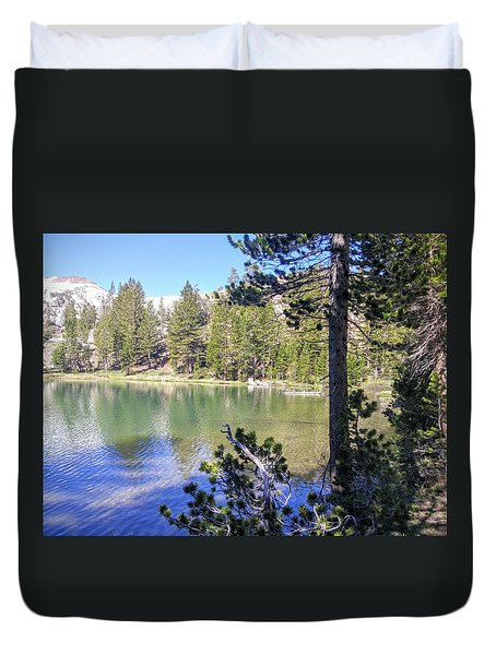 Yosemite Lake Duvet Cover