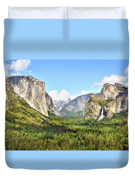 Yosemite Tunnel View Afternoon Duvet Cover