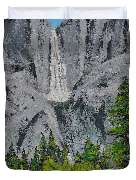 Yosemite Upper Falls Duvet Cover