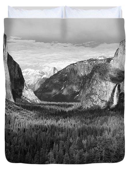 Yosemite Valley Duvet Cover by Sandra Bronstein