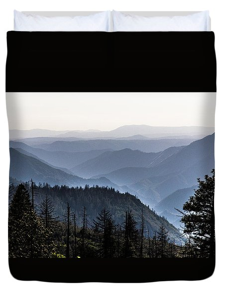 Yosemite View 27 Duvet Cover by Ryan Weddle