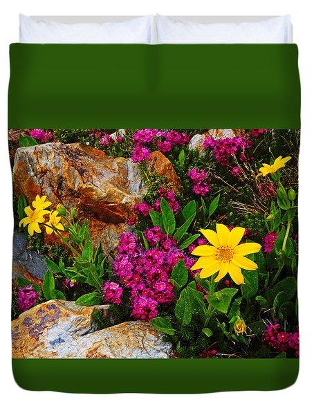 Yosemite Wildflowers Duvet Cover