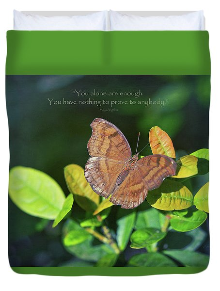 You Alone Are Enough Duvet Cover