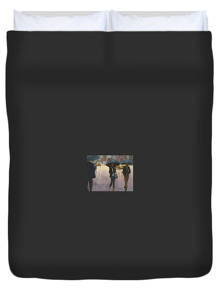 You And I And The Rain Duvet Cover