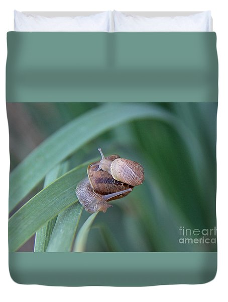 Duvet Cover featuring the photograph You And Me Kid by Suzanne Oesterling