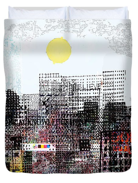 You Are Here  Duvet Cover by Andy  Mercer