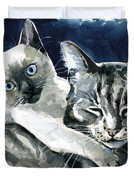 You Are Mine - Cat Painting Duvet Cover