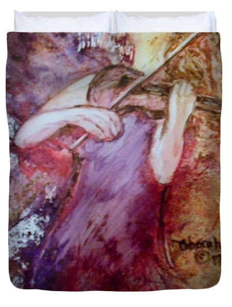 Duvet Cover featuring the painting You Are My Hallelujah by Deborah Nell