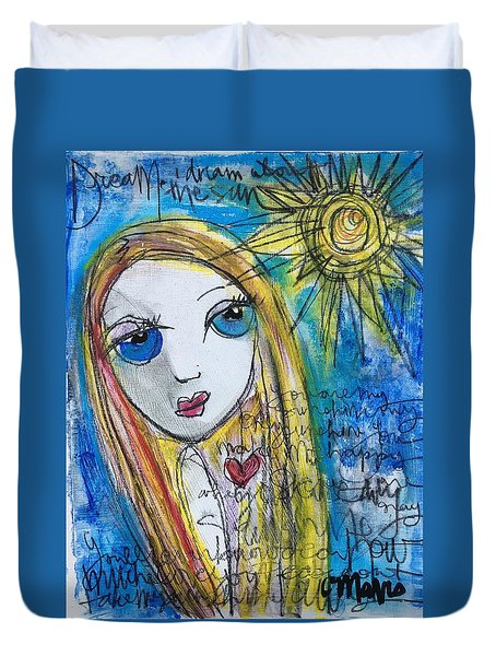 You Are My Sunshine  Duvet Cover by Laurie Maves ART