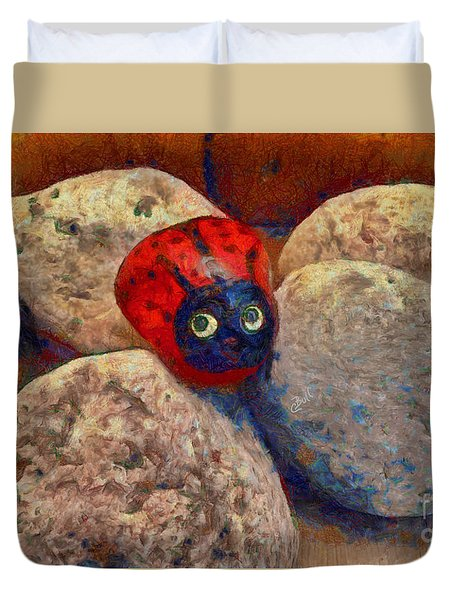 Duvet Cover featuring the photograph You Are Special  by Claire Bull