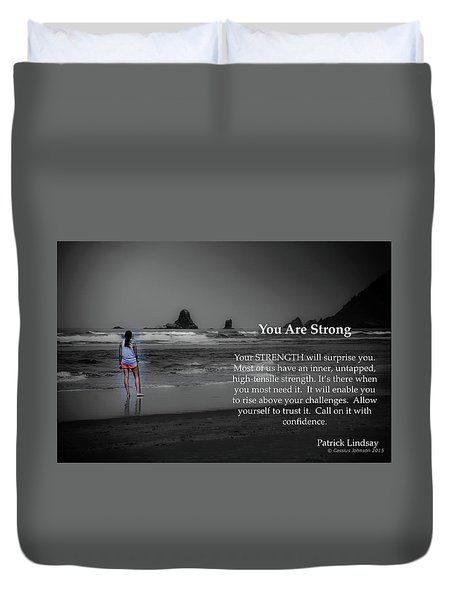 You Are Strong Duvet Cover