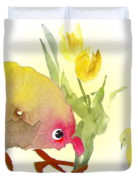 You Are The Cutest Thing Ever Duvet Cover by Miki De Goodaboom