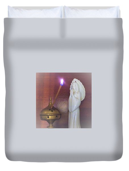 Duvet Cover featuring the photograph You Are The Light Of The World by Denise Fulmer