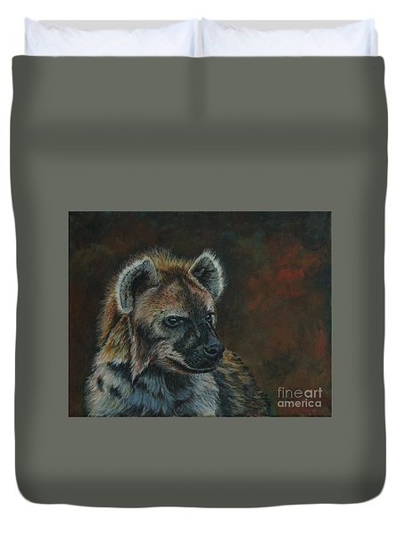 You Don't See Me Laughing......hyena Duvet Cover