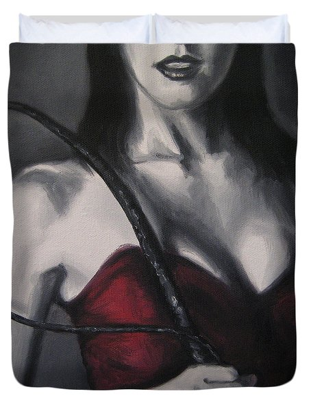You Have Been Naughty Duvet Cover by Jindra Noewi