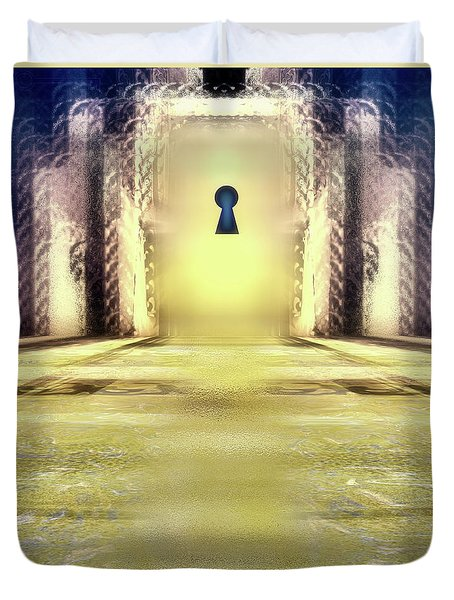 You Hold The Key Duvet Cover by Another Dimension Art