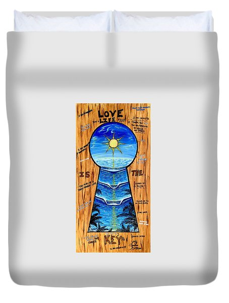 You Hold The Keys Duvet Cover